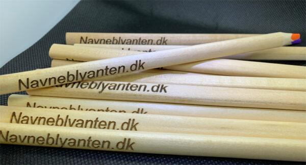 Farveblyanter med navn - Jumbo Natur pk med 12 stk