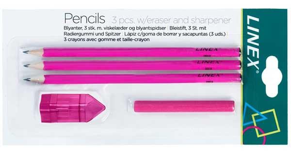 Linex skrivesæt i pink