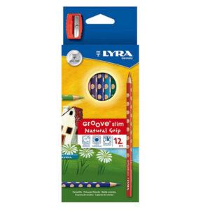 Farveblyanter_Lyra12stk_med_blyantspidser